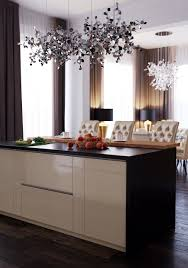 interior living room kitchen in the style of art deco by user