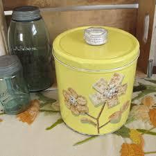 tin kitchen canisters krispy kan vintage cracker tin kitchen canister kitchen