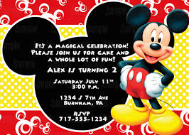 Mickey Mouse Invitation Cards Printable Printable Mickey Mouse Invitation Plus Free Blank Matching