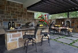 interior mesmerizing design outdoor kitchen with stone island