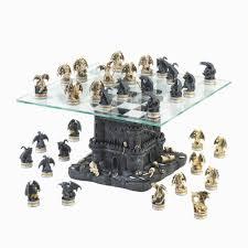 wholesale ultimate dragon chess set glass chess board pedestal