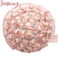 silk bridal bouquet chagne wedding bouquet diamond silk bridal bouquets big