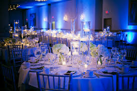 How To Make Centerpieces For Wedding Reception by Belvedere Wedding By Kristin La Voie Photography Blue Wedding