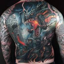 tattoo dragon full back 60 dragon back tattoo designs for men breath of power