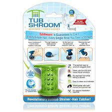 amazon com tubshroom the revolutionary tub drain protector hair