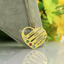 Mom Necklace With Kids Names Aliexpress Com Buy Personalized Family Necklace Gold Color Mom