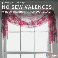 How To Hang A Drapery Scarf by No Sew Window Treatments Creative Valances From Your Own Wardrobe