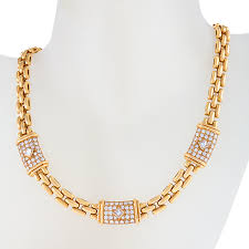 cartier diamond necklace images Paris late 20th century diamond and gold 39 trinidad 39 link necklace jpg