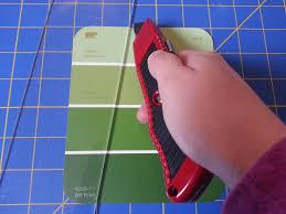 stitch make paint chip tree christmas cards