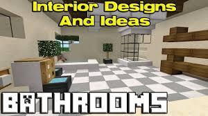 home design idea bathroom ideas minecraft pe