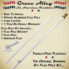 amazon com flag pole kit tangle free flag pole kit includes us