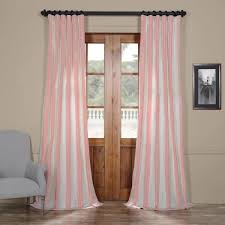 Striped Silk Fabric For Curtains Exclusive Fabrics Pink And Striped Faux Silk Taffeta Curtain