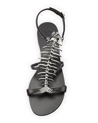 giuseppe zanotti fish bone flat sandal nero shoes pinterest