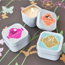 personalized candle favors personalized square candle tin favors candle favors