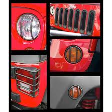 Rugged Ridge Grille Inserts Jeep Jk Amazon Com Rugged Ridge 11226 02 Black Rear Euro Tail Light Guard