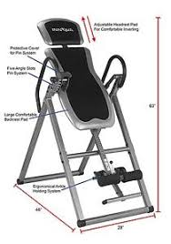inversion table exercises for back heavy duty gravity inversion table fitness back pain relief exercise