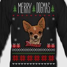 merry dogmas chihuahua sweater sweatshirt spreadshirt