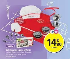 set de cuisine enfant carrefour promotion set de cuisine pour enfants produit maison