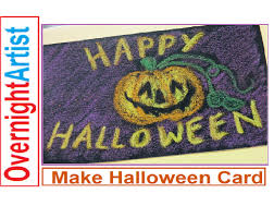 draw halloween cards easy step by step youtube