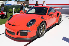 orange porsche 911 gt3 rs 2016 porsche 911 gt3 rs surfaces at pebble beach during monterey