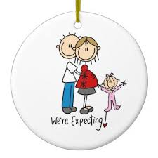 we re expecting with toddler boy ornament zazzle