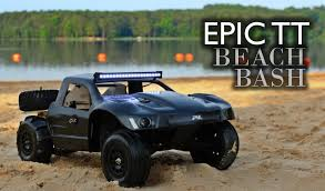 rally truck rc trophy truck epic beach bash youtube