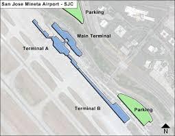 san jose airport on map san jose mineta sjc airport terminal map