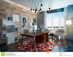 luxury modern home office stock photo image 39781784