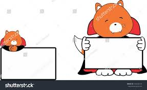 Baby Fox Halloween Costume Cute Baby Fox Cartoon Halloween Vampire Stock Vector 718240114