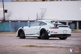 porsche 911 gt3 rs rides on vossen wheels gtspirit