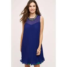 maeve clothing maeve layered pleat swing dress 178 liked on polyvore
