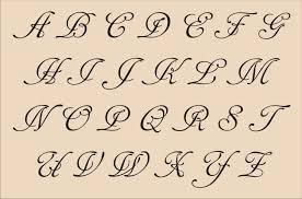 alphabet fancy cursive letter art tattoo lettering cursive