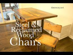Reclaimed Wood Chairs Make Industrial Reclaimed Wood Steel Chairs