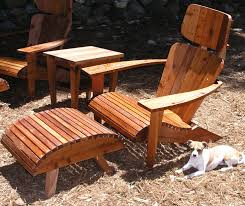 modern adirondack chair set chair headrest ottoman and side