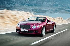 bentley convertible red bentley premieres 200mph gt speed convertible