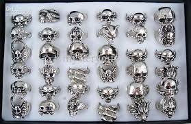 mens rings skull images Men 39 s skull dragon wolf rings bright silver tone ring mixed with jpg