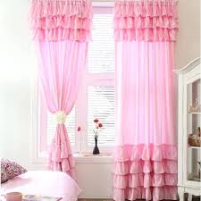 Ruffled Pink Curtains Light Pink Curtains Wonderful Light Pink Ruffle Curtains And Light
