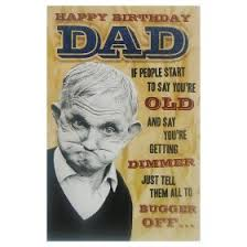 greeting card happy birthday dad humorous card asda groceries