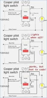 leviton single pole switch with pilot light wiring diagram with