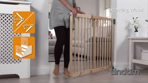 Baby Safety Gates For Stairs Wall Fix Extending Wooden Safety Gate Youtube