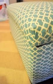 the no sew way to recover an ottoman ottomans upholstery and craft