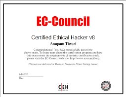ethical hacking certificate