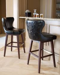 collection in black leather bar stool boheme leather counter stool