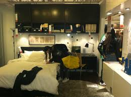 ikea small spaces queen platform bed and gimbal ring recessed lighting also cabelas
