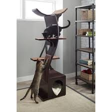 the refined feline s lotus color cat tower free shipping today