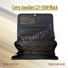 Dompet Cerry Jourdan cerry jourdan dompet kulit cj1 550 hitam elevenia