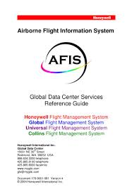 airborne flight information system global data center