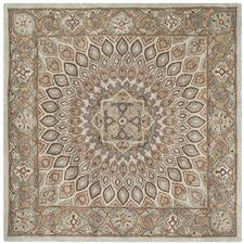 10 Square Area Rugs Safavieh Heritage Collection Hg914b Handmade Blue And Grey Wool