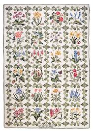 Claire Murray Washable Rugs by Botanical Flower Hand Hooked Rug 6x9 Blk Claire Murray