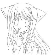 cute anime cat coloring pages youtuf com